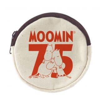 嚕嚕米Moomin 75周年紀念 零錢包(白色紅字)