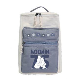 嚕嚕米Moomin方筒拼色後背包(灰)