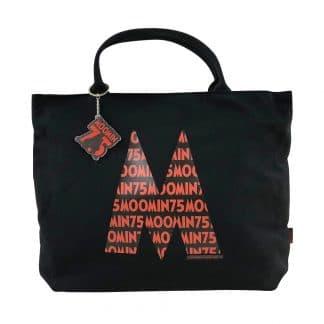 嚕嚕米MOOMIN 75周年拉鍊帆布包(黑色) 附鑰匙圈