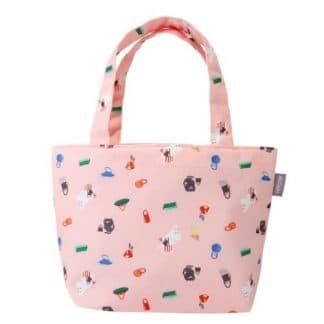 粉紅色嚕嚕米提袋 正面